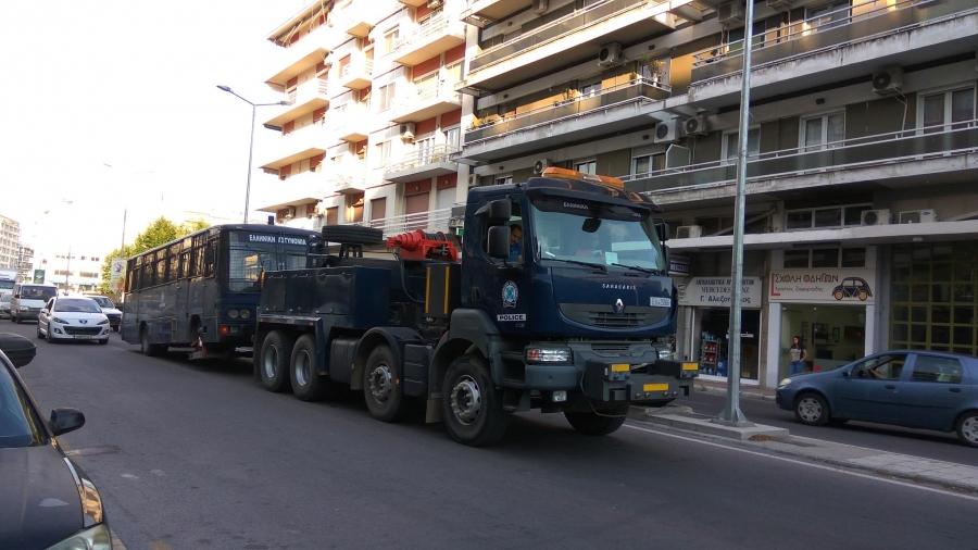 Διμοιρίες της ΔΑΕΘ μετακινούνται σε όλη την Ελλάδα με ακατάλληλα λεωφορεία.