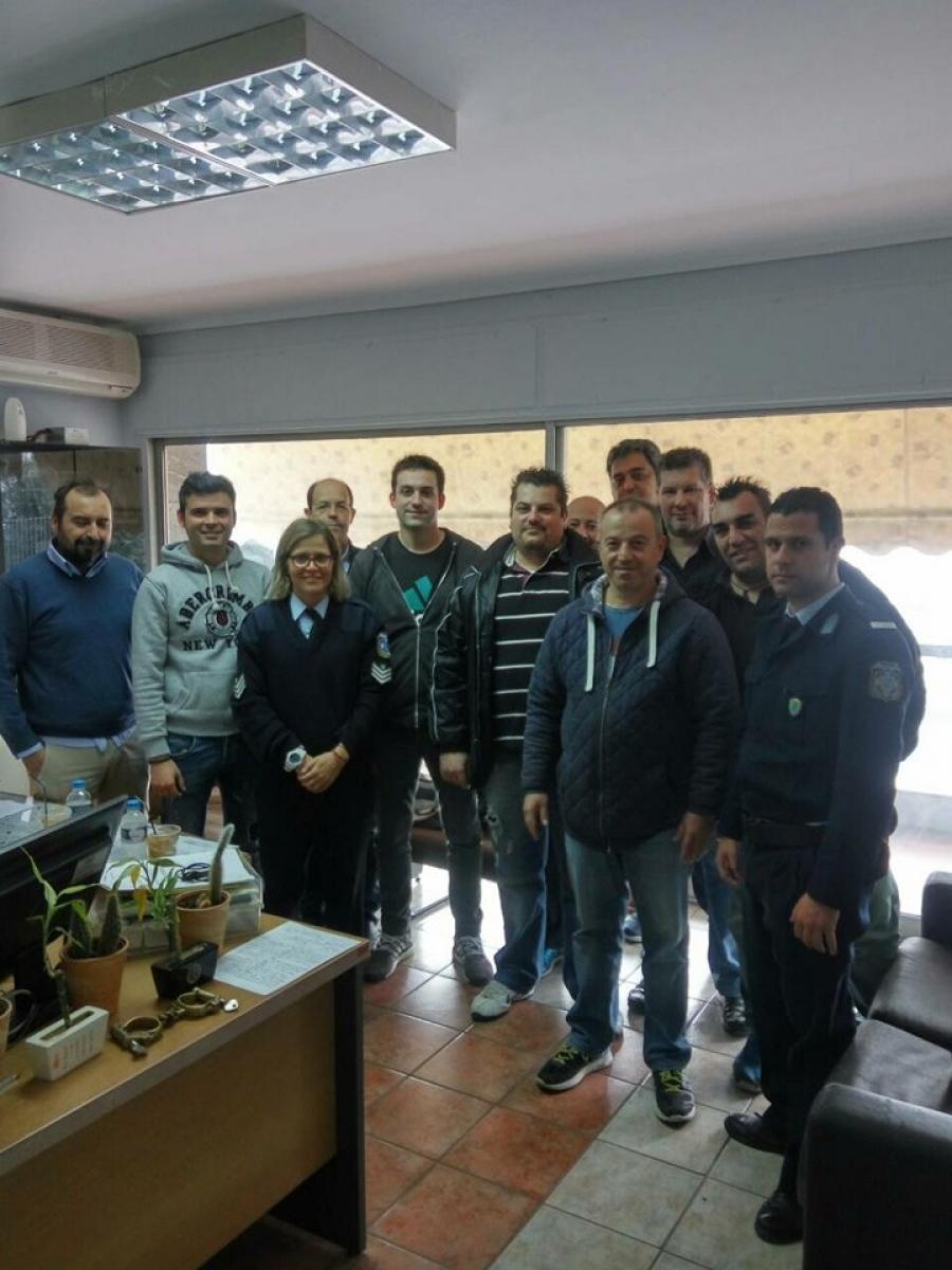 Επίσκεψη της ΑΣΠΑ στο Α.Τ. Καλαμαριάς.