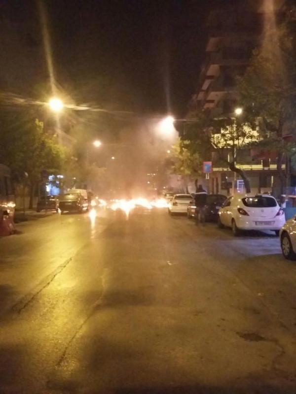Επίθεση με μολότοφ δέχθηκε η διμοιρία ΥΑΤ στο Τούρκικο Προξενείο